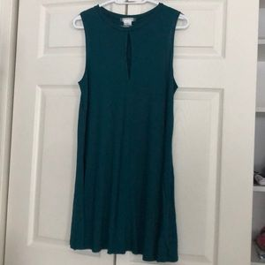 Turquoise Keyhole tank top Dress